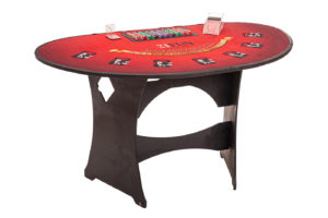 Everyone loves playing at our standing blackjack tables.